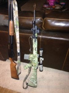 Winchester 1200 Defender and Remington R15